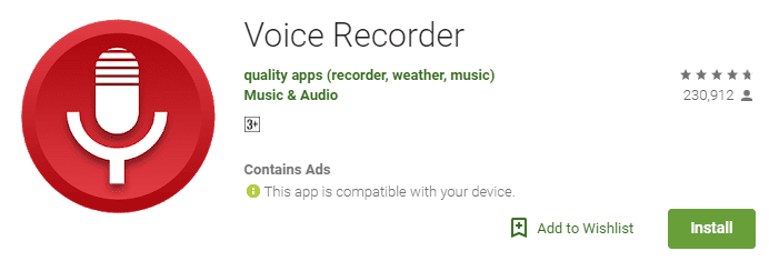 record your voice on android with this app