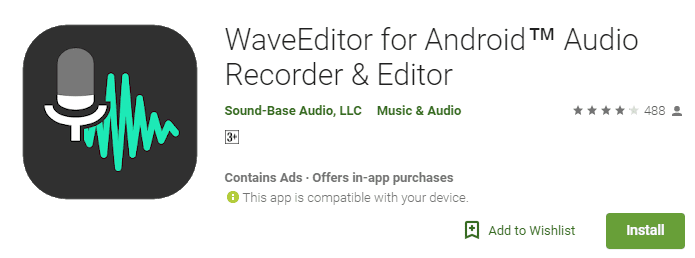 Wave editor for android